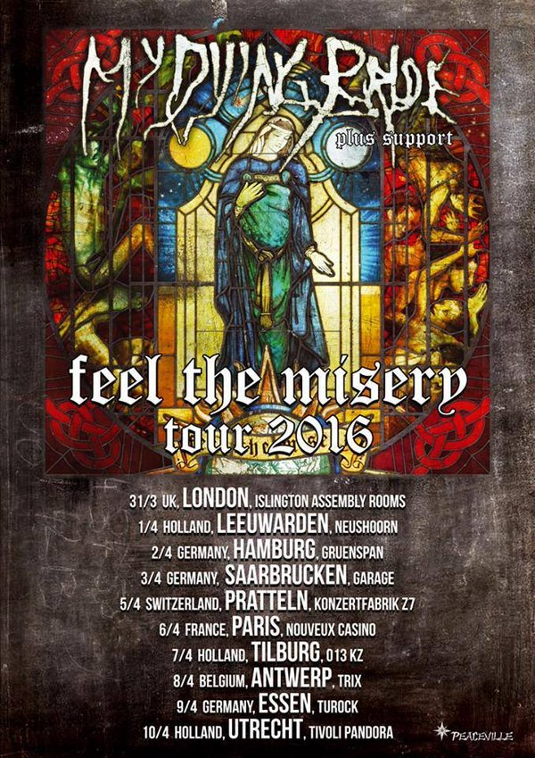 mydyingbride tourplakat